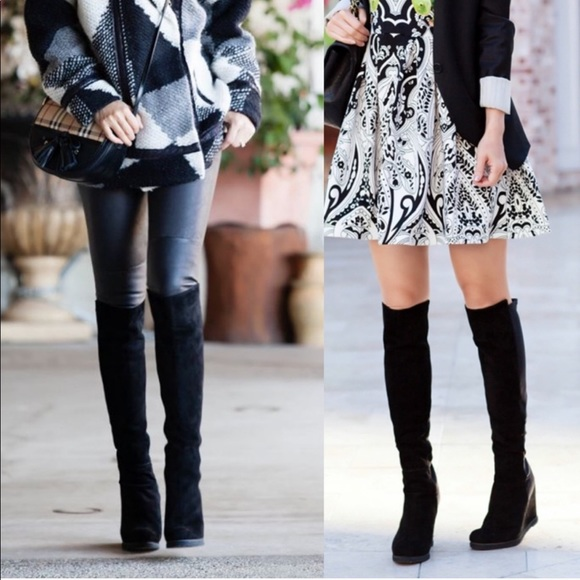 4d374222c9a The Demiswoon over the knee wedge boot. M 5c6c3a91bb7615565b4bfdda